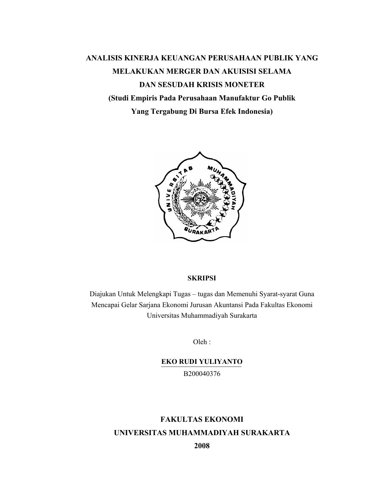 Analisis Kinerja Keuangan Perusahaan Publik Yang