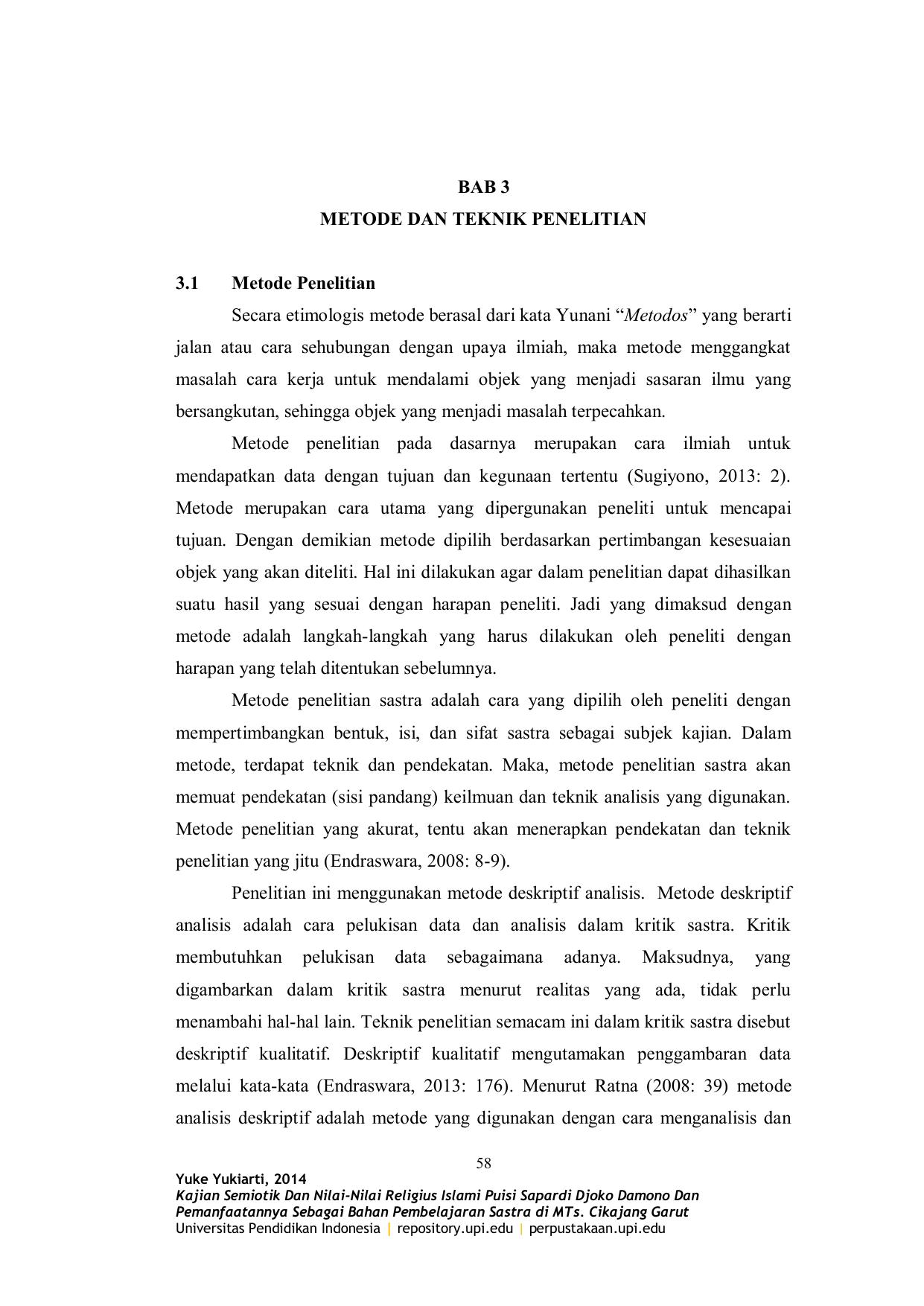 Bab 3 Metode Dan Teknik Penelitian 3 1