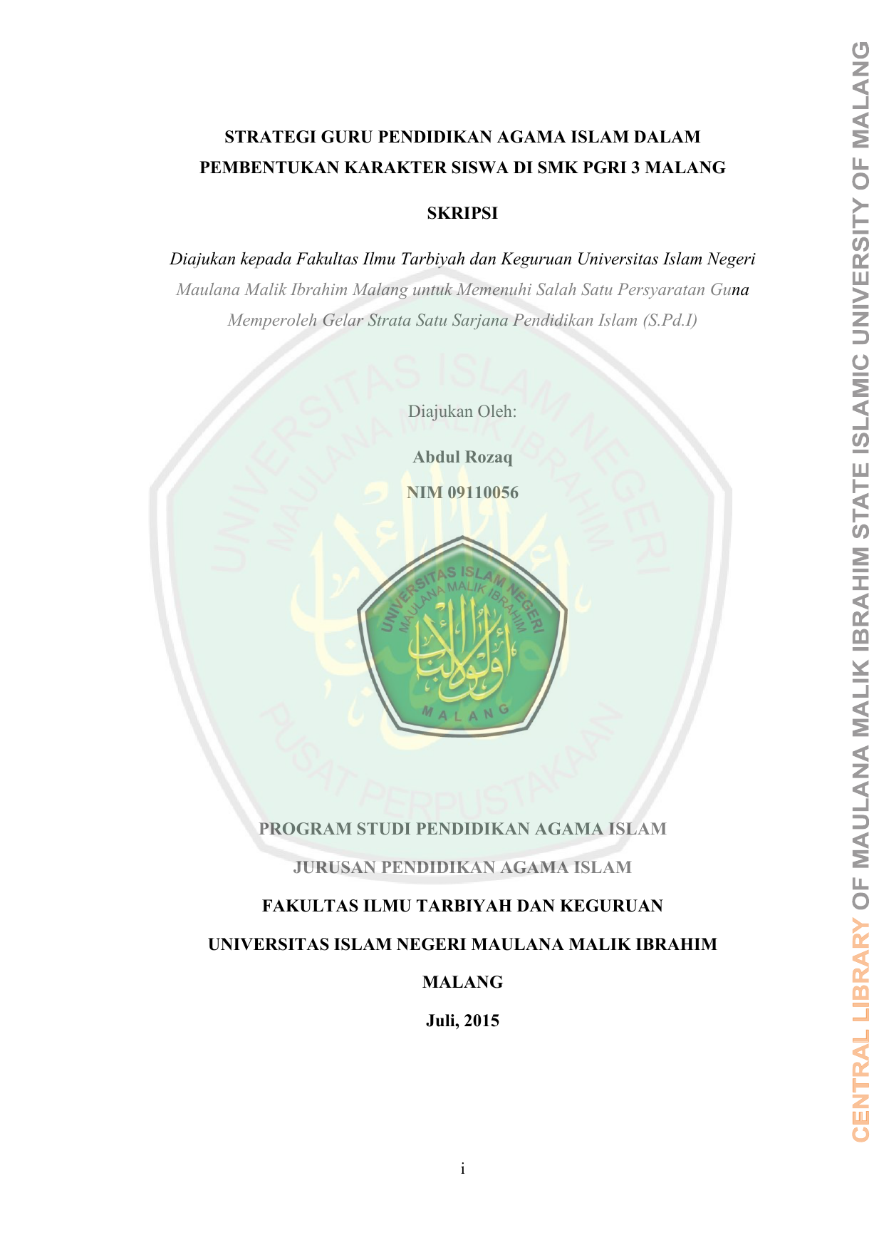 Strategi Guru Pendidikan Agama Islam Dalam