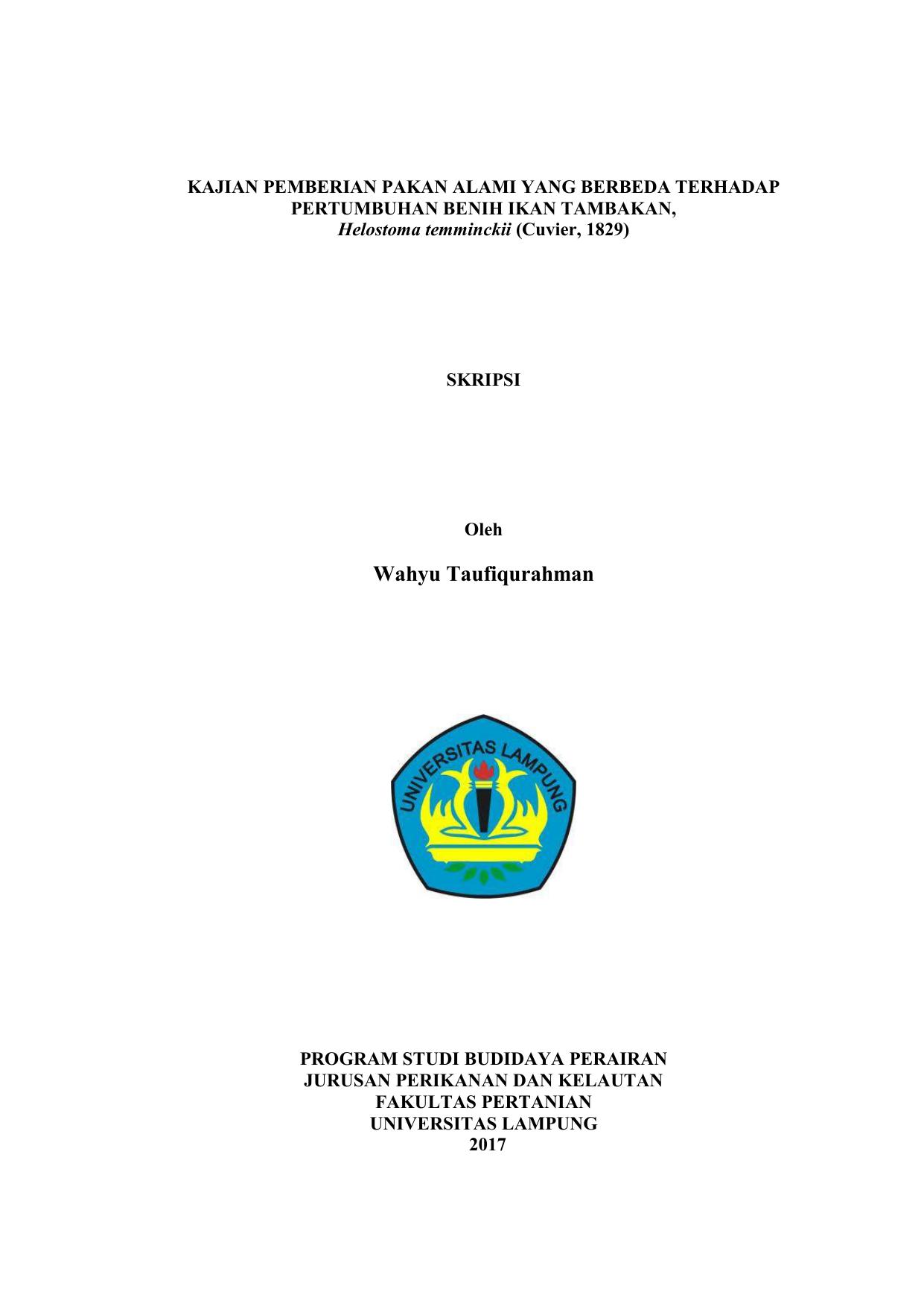 Wahyu Taufiqurahman Digital Library Unila