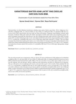 22 iii metode penelitian a waktu dan tempat penelitian ini karakterisasi bakteri asam laktat yang diisolasi dari ccuart Images