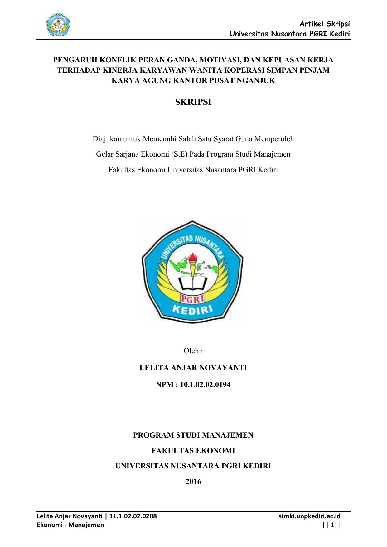 Contoh Skripsi Ekonomi Manajemen Contoh Soal Dan Materi Pelajaran 8