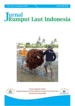 Cover Jurnal Vol 1 No 2.cdr - Jurnal Rumput Laut Indonesia