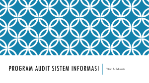 PROGRAM AUDIT SISTEM INFORMASI Titien S. Sukamto