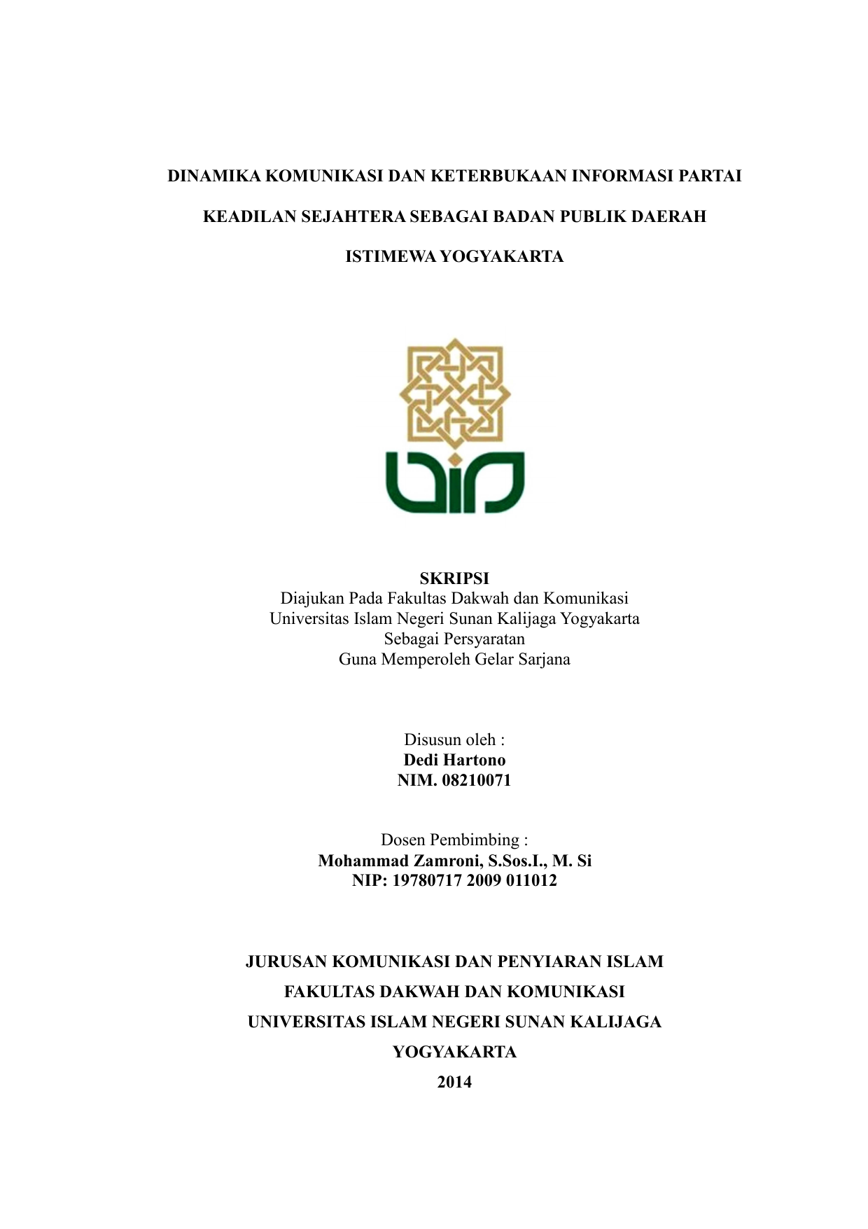 Cover Proposal Digital Library Uin Sunan Kalijaga