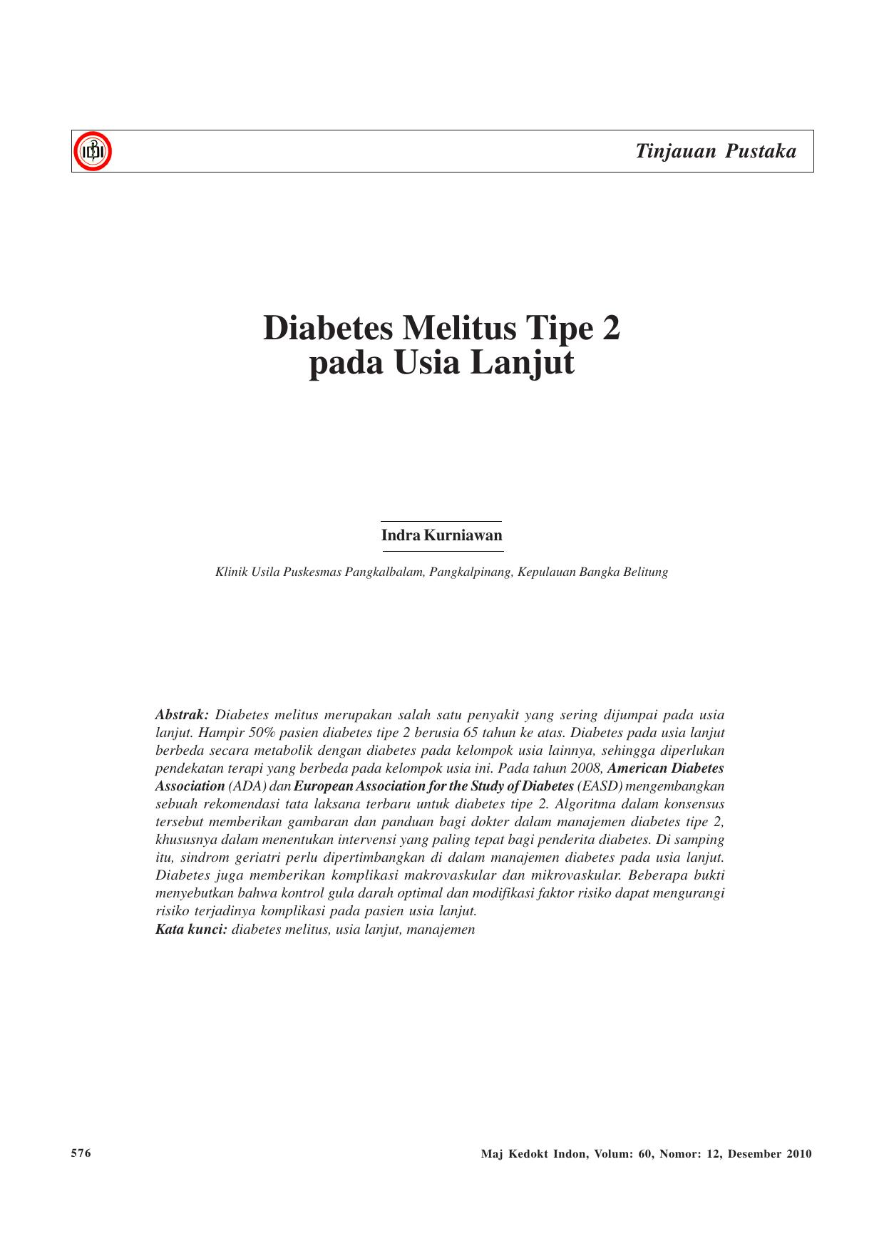 penanganan diabetes melitus tipe 2 pdf