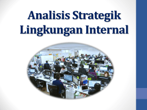 Analisis Strategik Lingkungan Internal