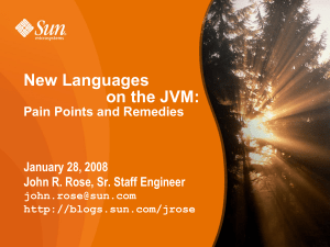 New Languages on the JVM - OpenJDK