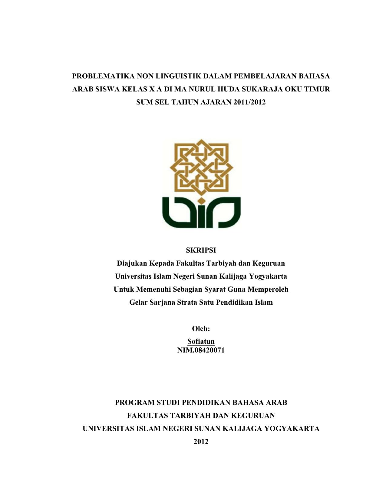 Judul Skripsi Pendidikan Bahasa Arab Kuantitatif Ide Judul Skripsi Universitas