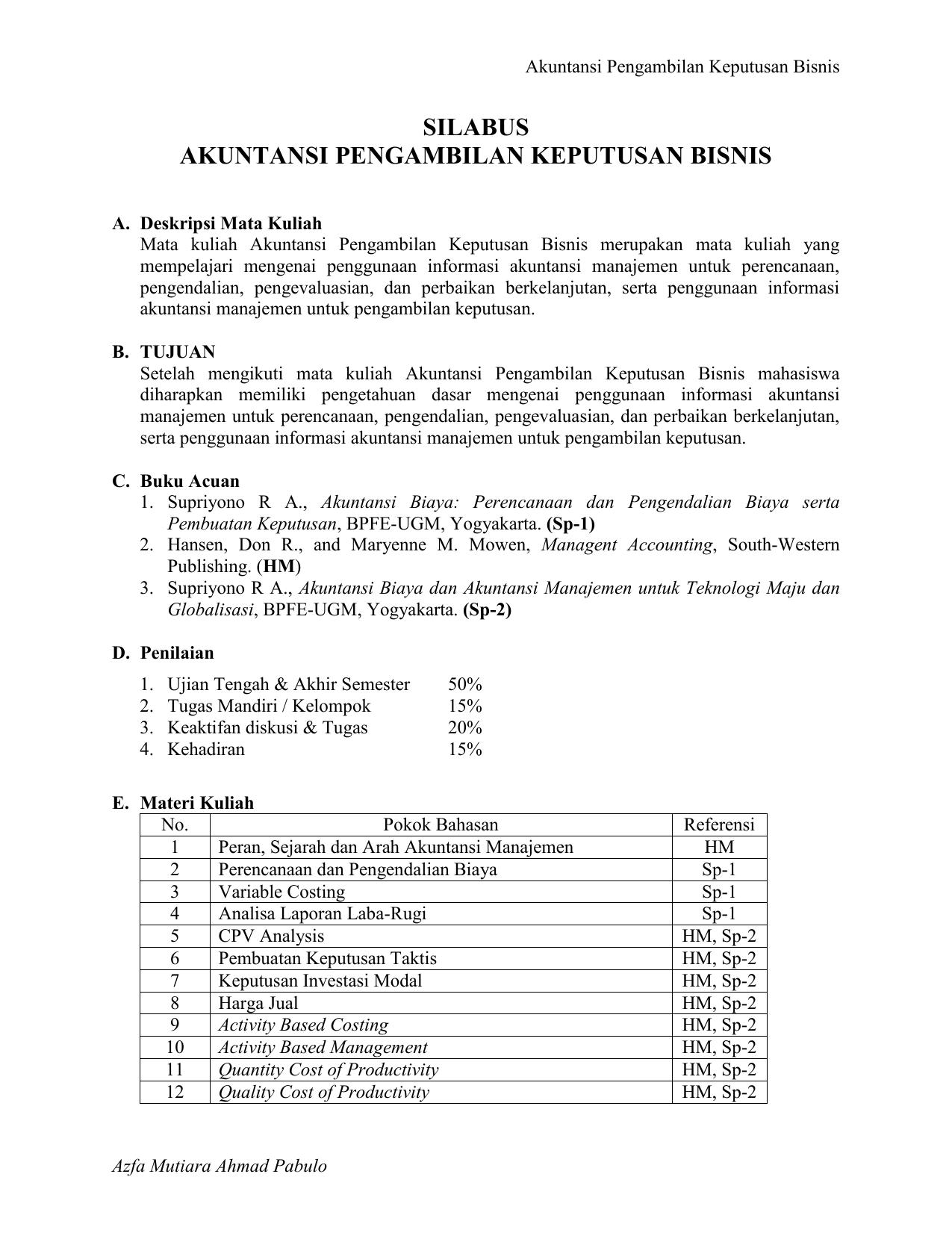 Silabus Akuntansi Keuangan Kelas Xii - IlmuSosial.id