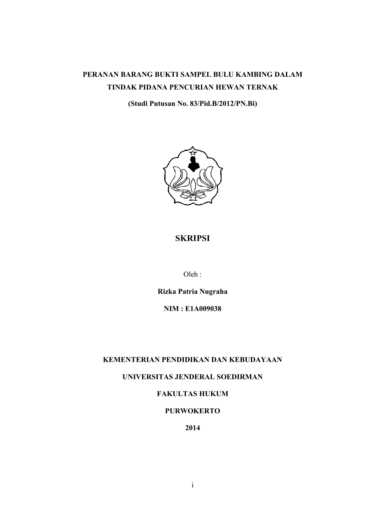 Skripsi Rizka Patria Nugraha E1a009038