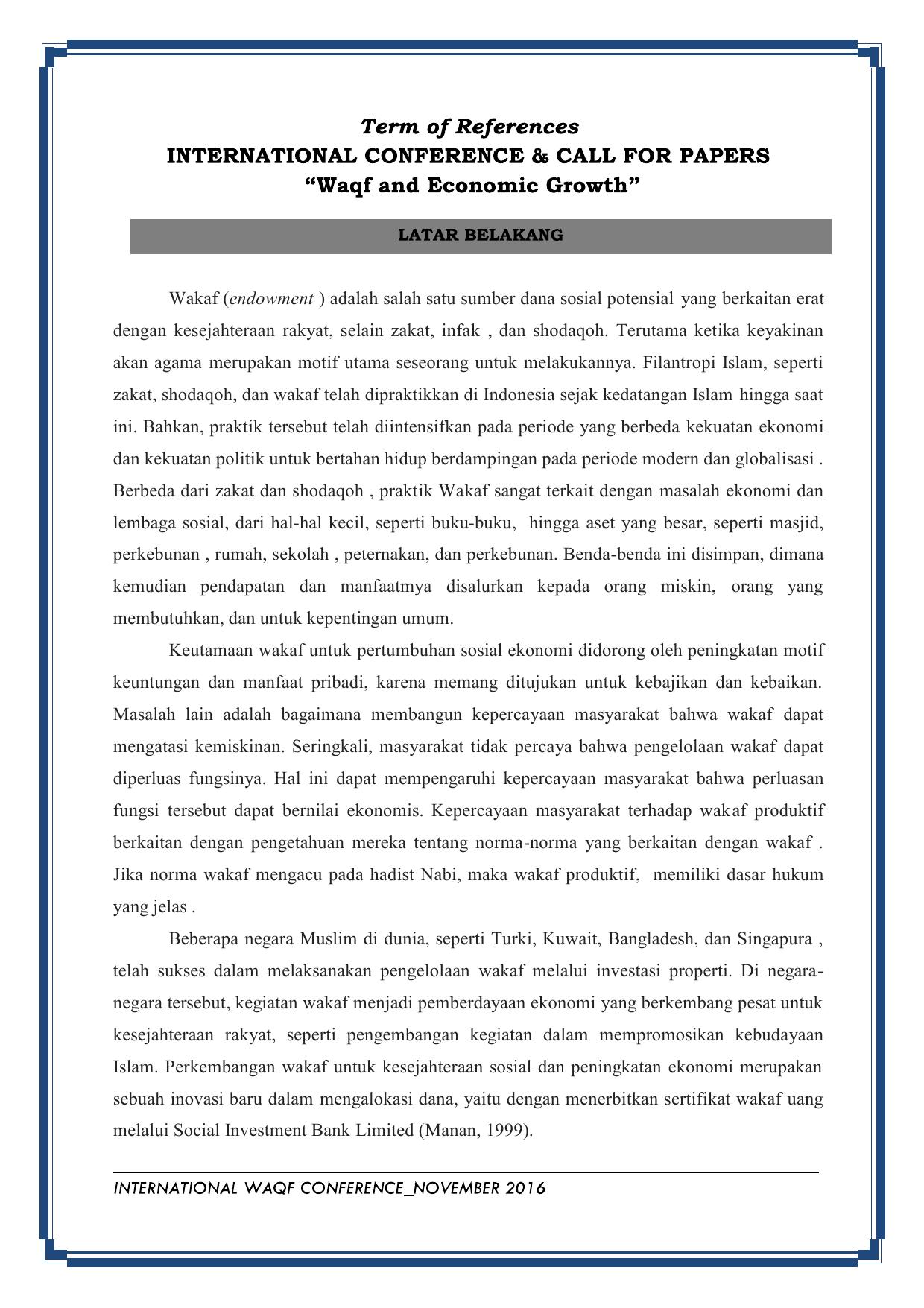 Contoh Skripsi Wakaf Contoh Soal Dan Materi Pelajaran 8