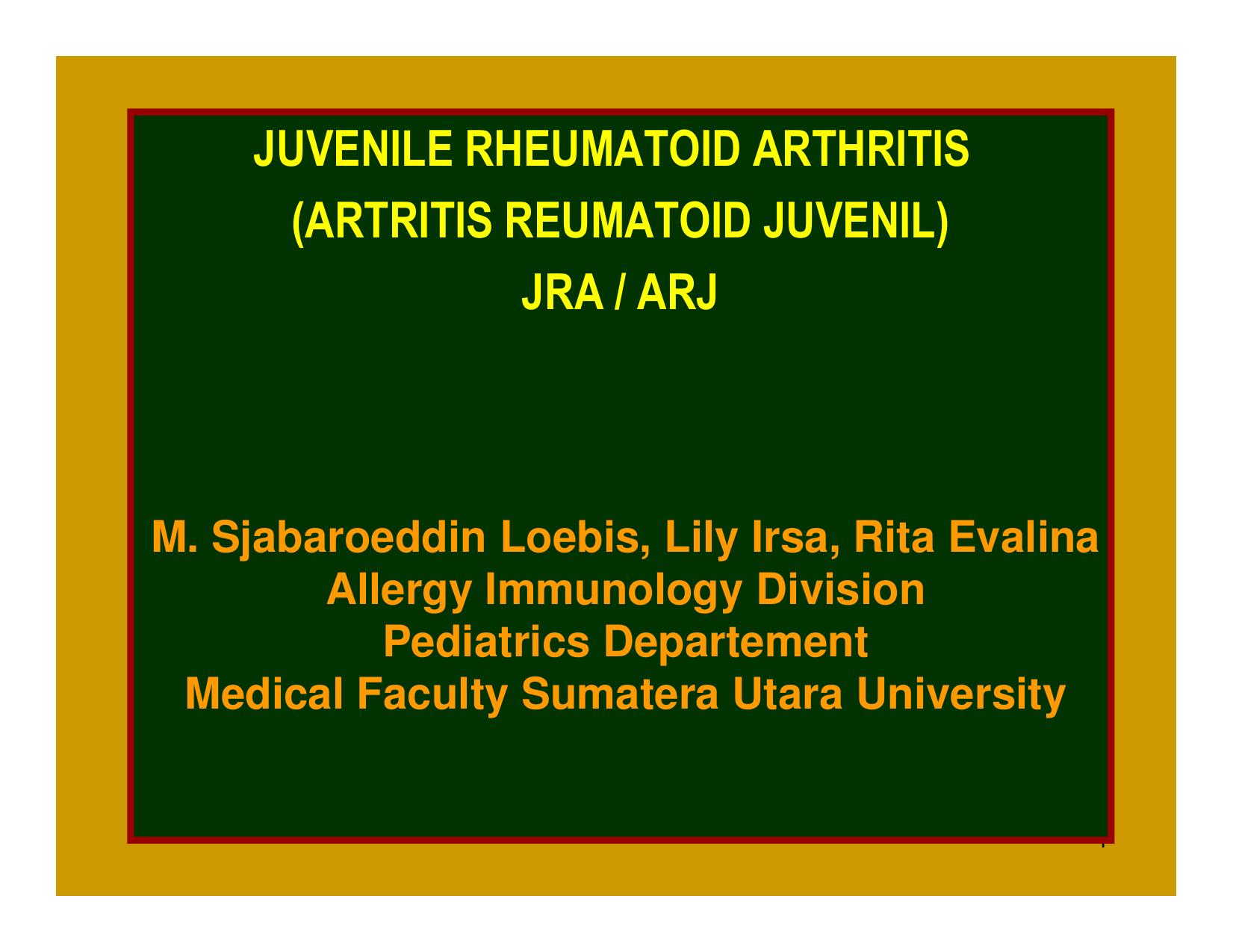 Traducere 'juvenile rheumatoid arthritis' – Dicţionar română-Engleză | Glosbe