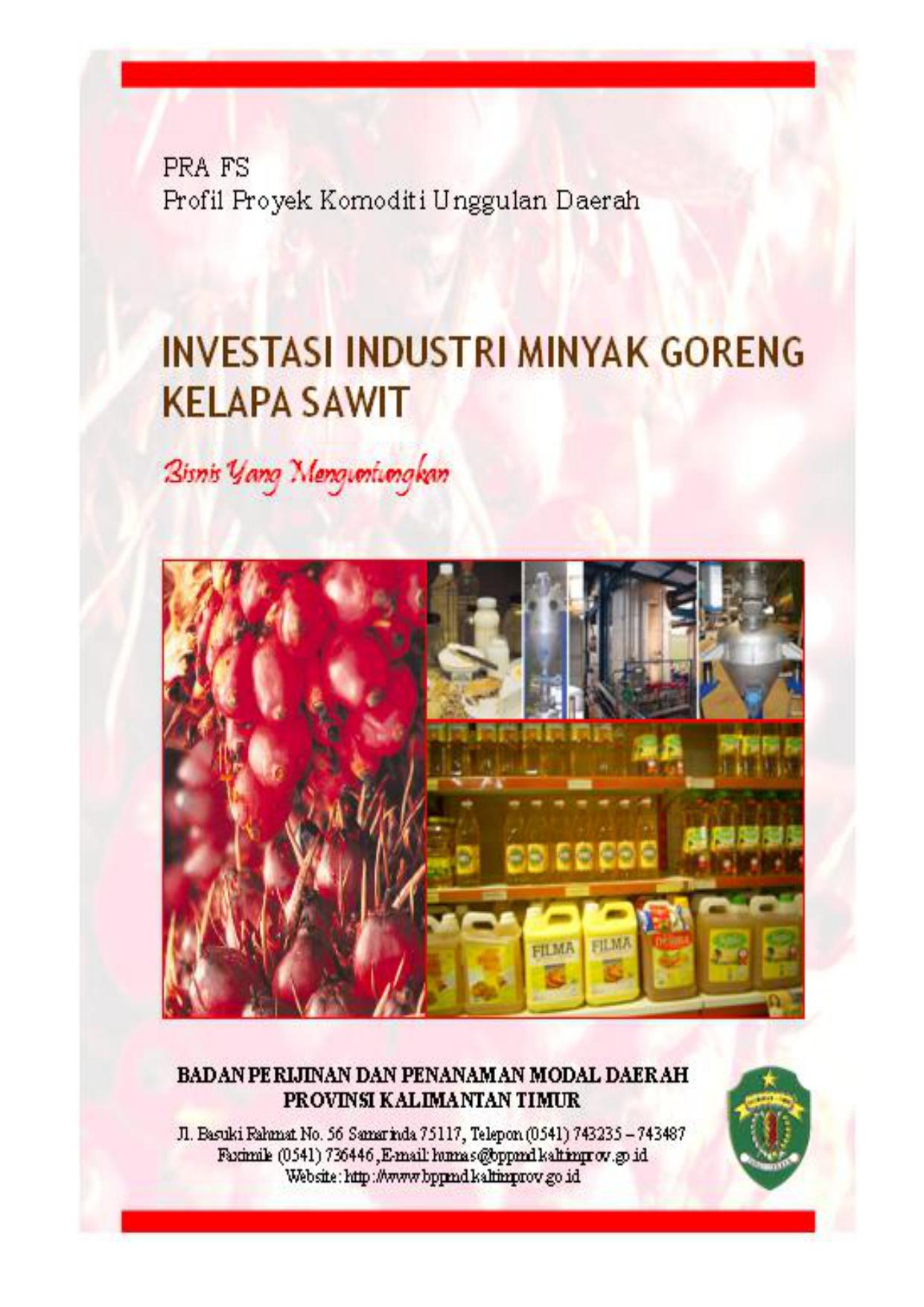 Investasi industri minyak goreng kelapa sawit ccuart Image collections