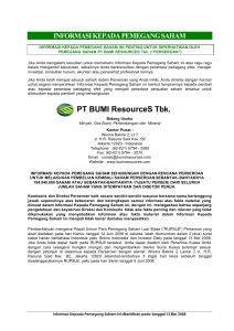 Bumi Resources - Buyback Second Submission 290508 FINAL