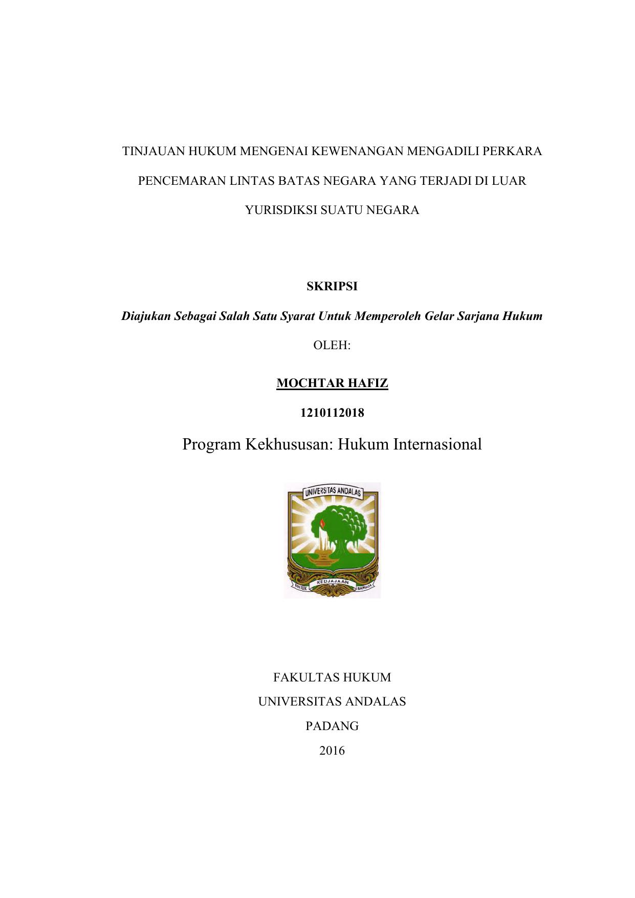 Eskripsi Universitas Andalas