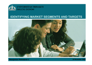identifying market segments and targets universitas trisakti