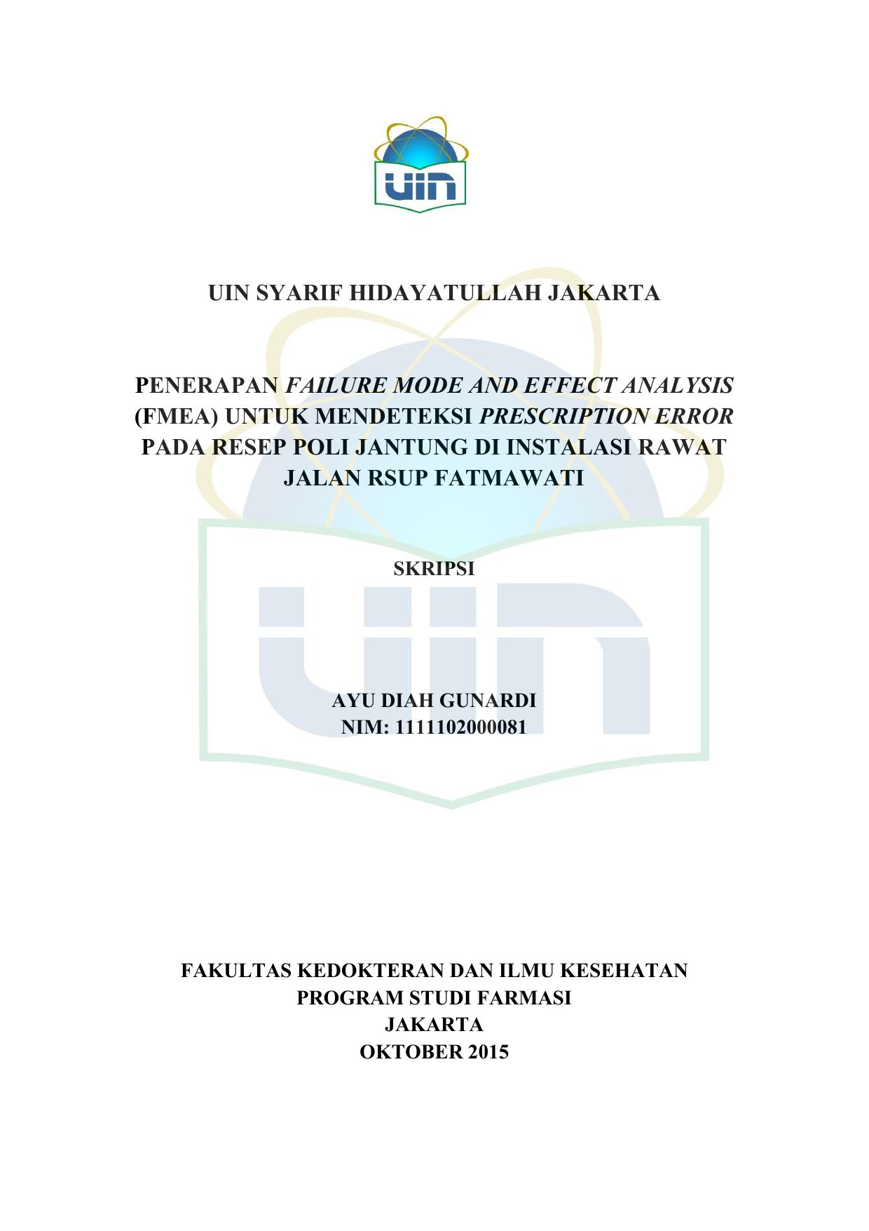 Fmea Repository Uin Jakarta