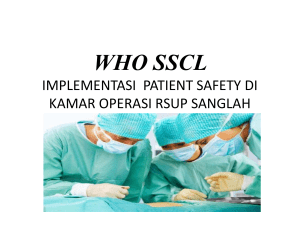 who sscl implementasi patient safety di kamar operasi rsup sanglah