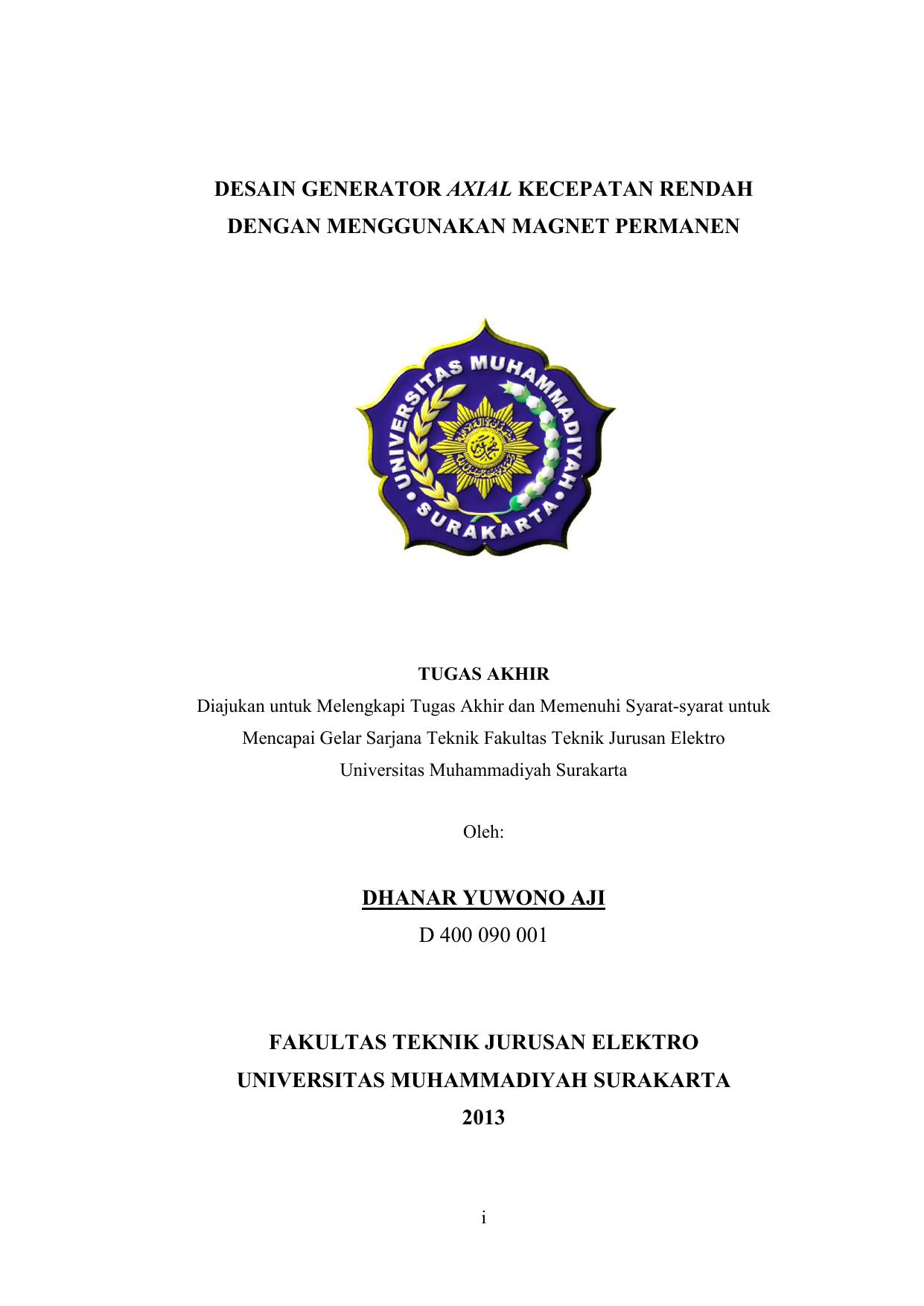Proposal Tugas Akhir Universitas Muhammadiyah Surakarta