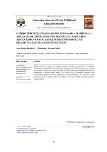 Indonesian Journal of Early Childhood Education