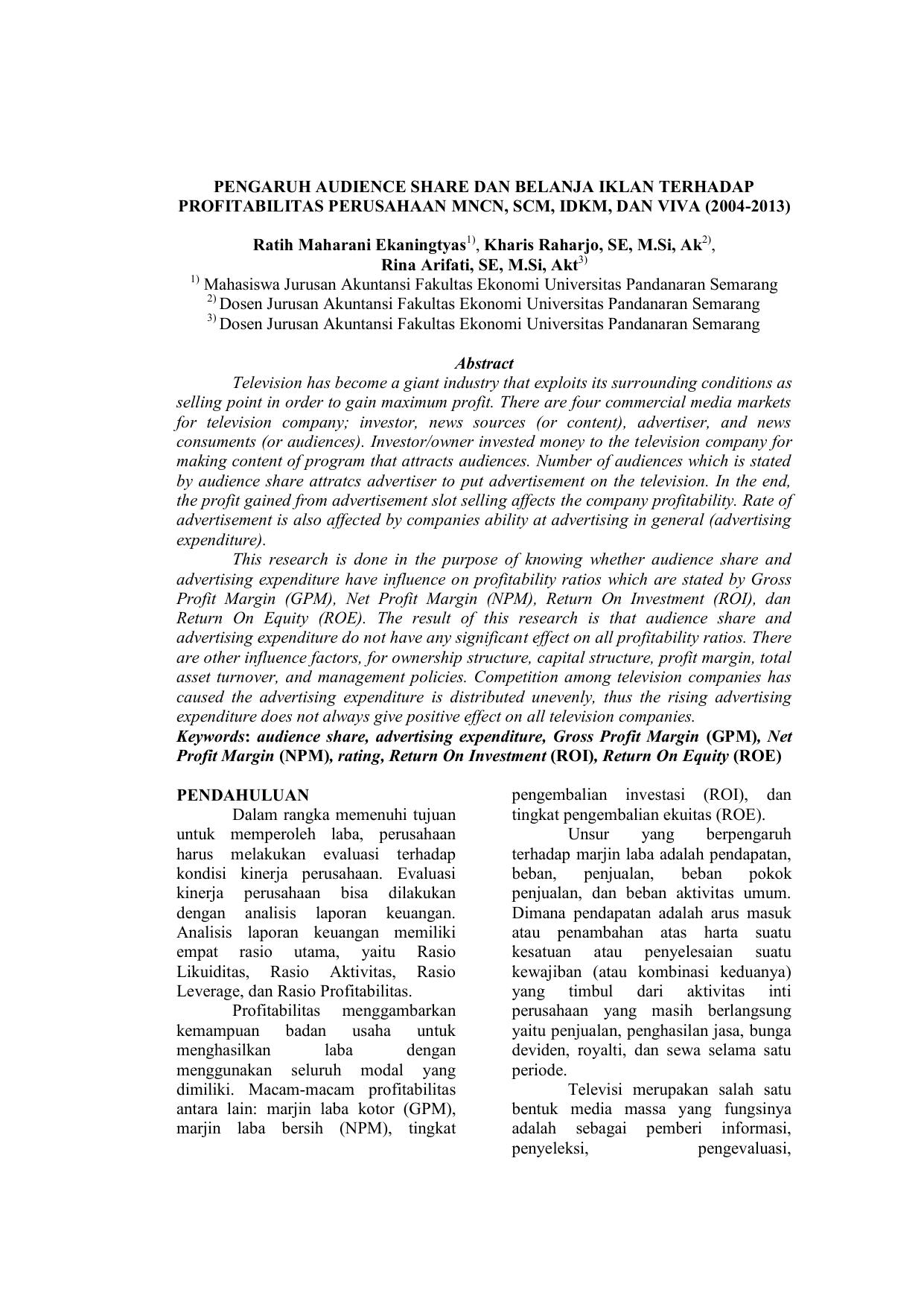 Proposal Skripsi Jurnal Universitas Pandanaran