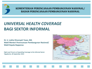 universal health coverage bagi sektor informal