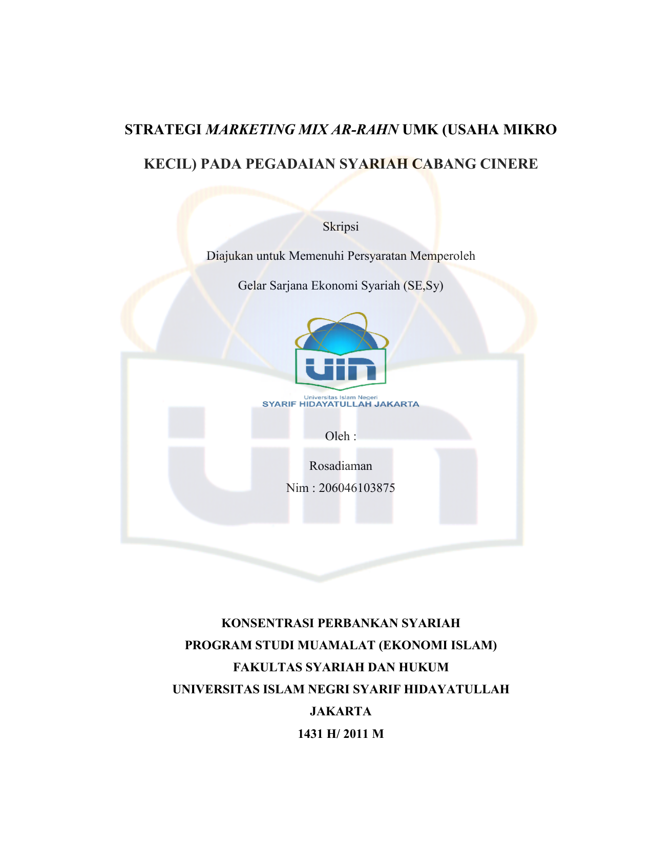 Strategi Marketing Mix Ar Rahn Umk Usaha Mikro