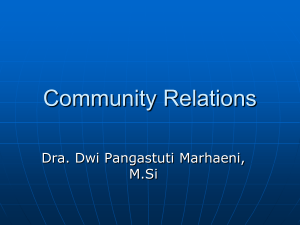 Community Relations by Dwi Pangastuti M