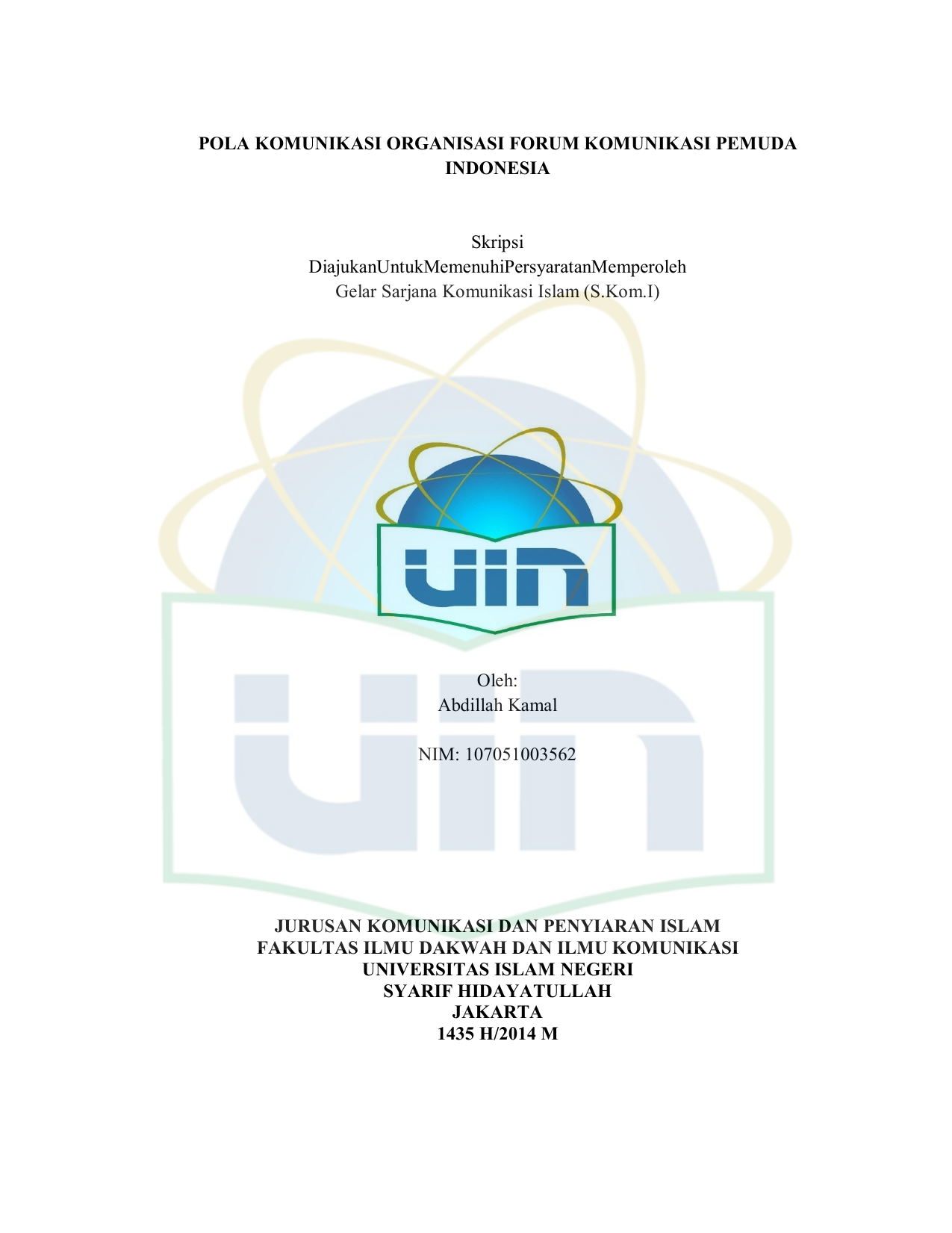 Pola Komunikasi Organisasi Forum