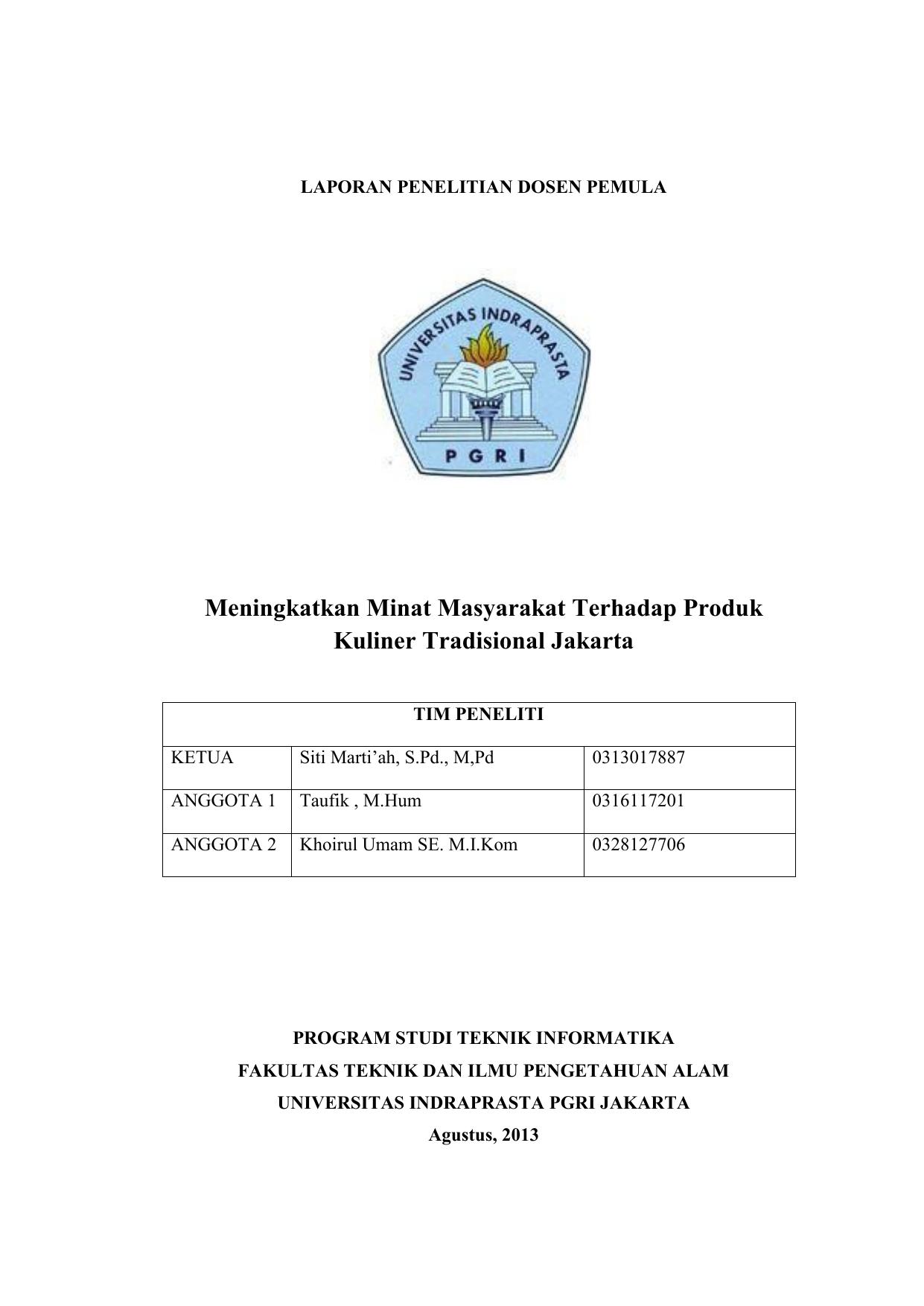 Contoh Bab 4 Skripsi Teknik Informatika Unindra - Kumpulan ...