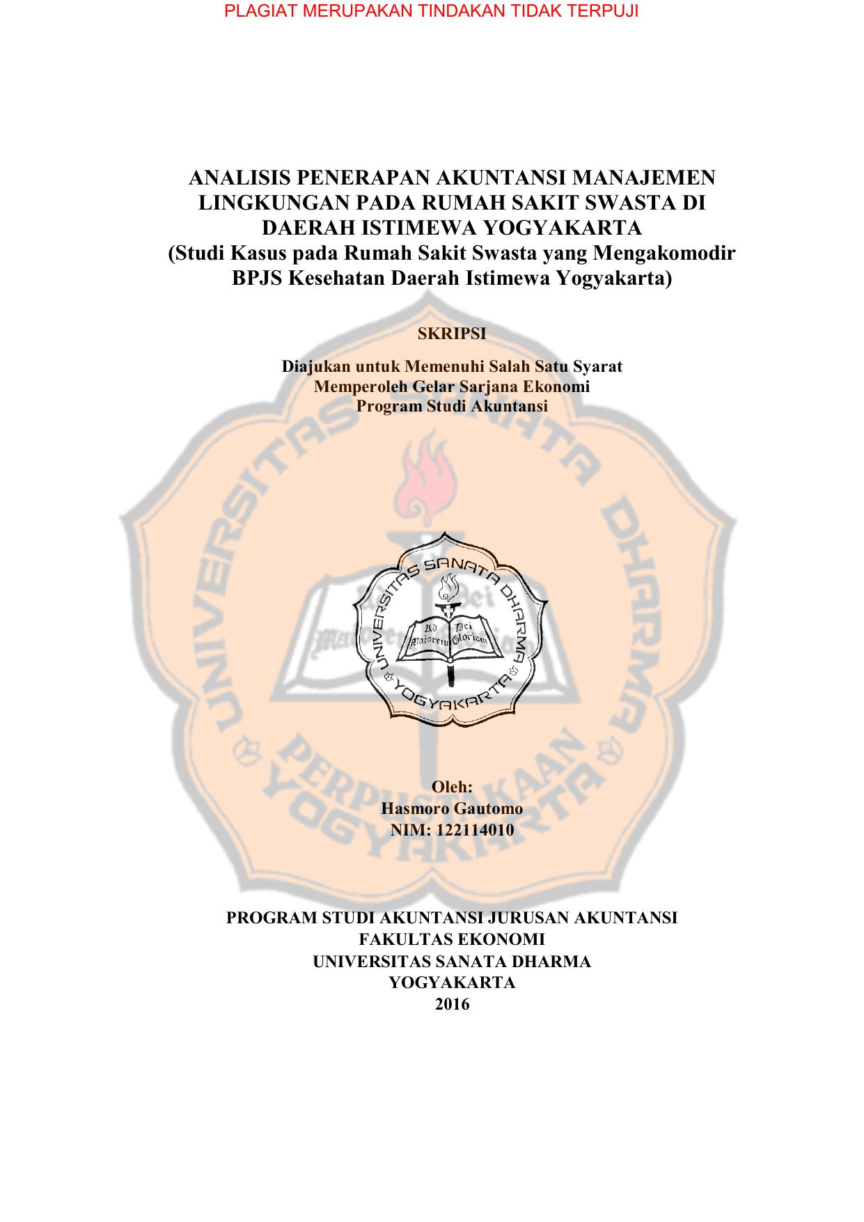 Skripsi Akuntansi Manajemen Lingkungan Ide Judul Skripsi Universitas