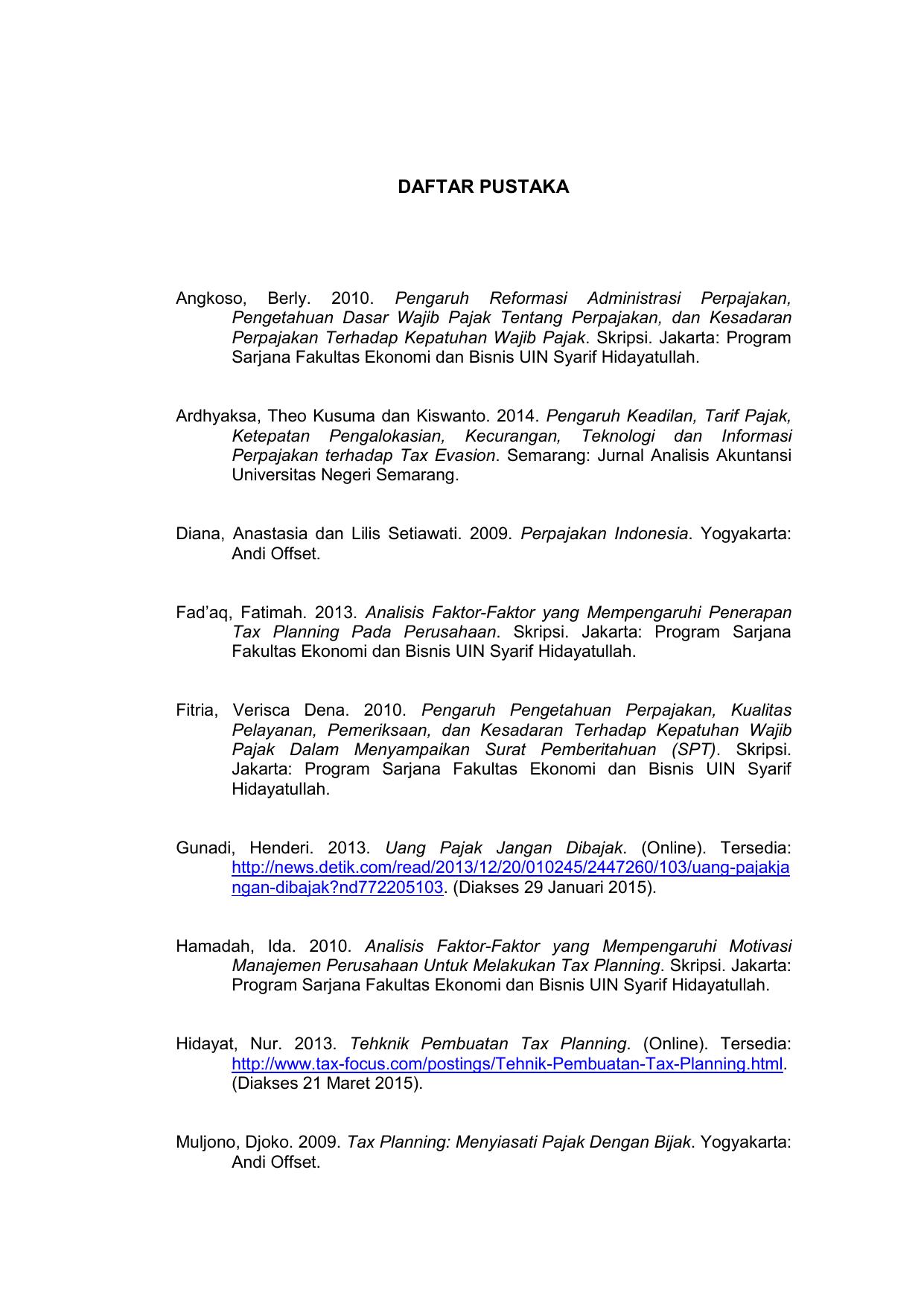 Daftar Pustaka Repository Um Metro