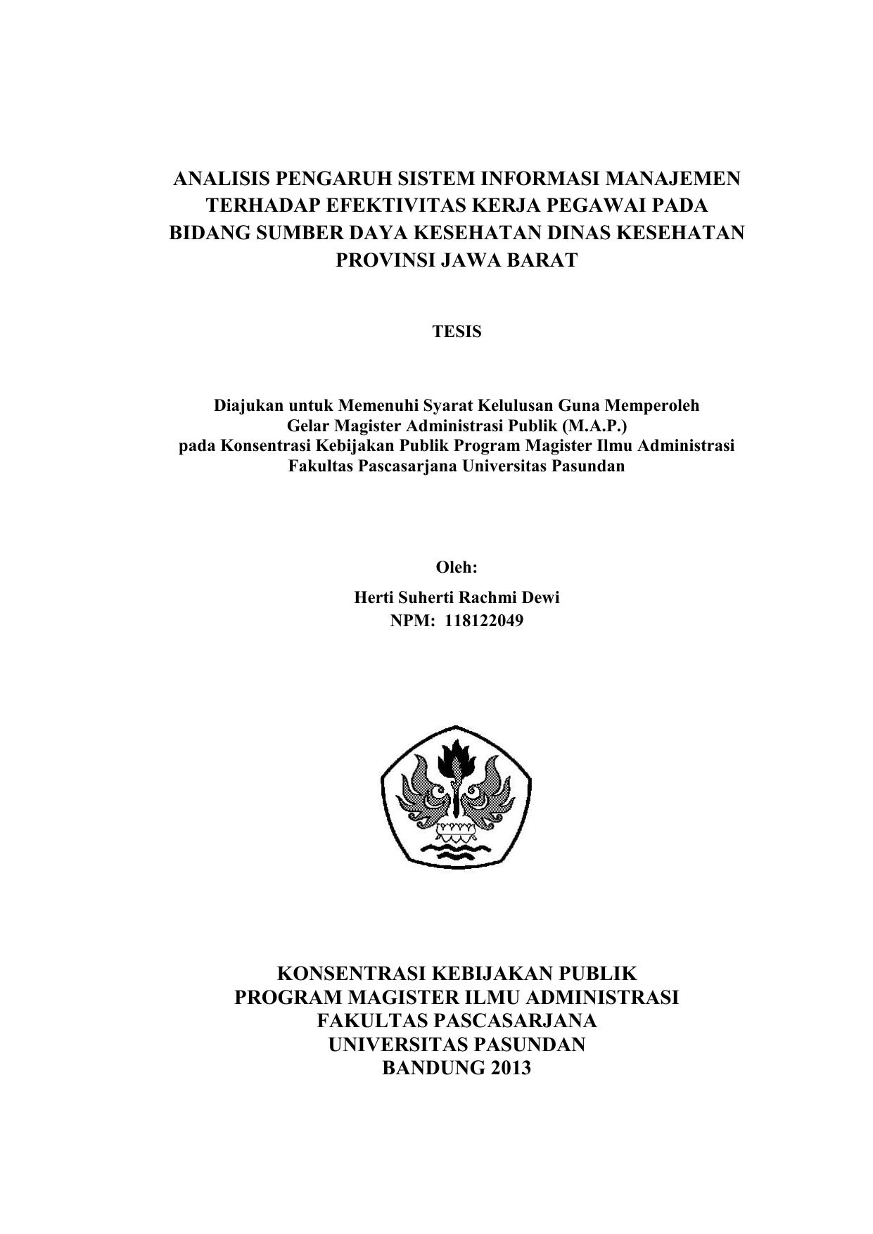 Contoh Soal Dan Materi Pelajaran 10 Contoh Tesis Ilmu Administrasi Publik