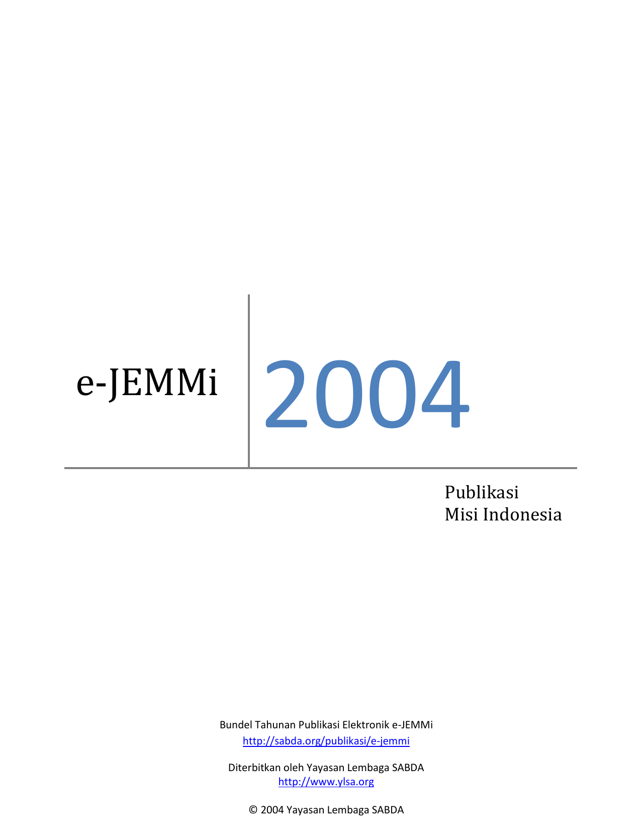 E Jemmi 2004 Sabda
