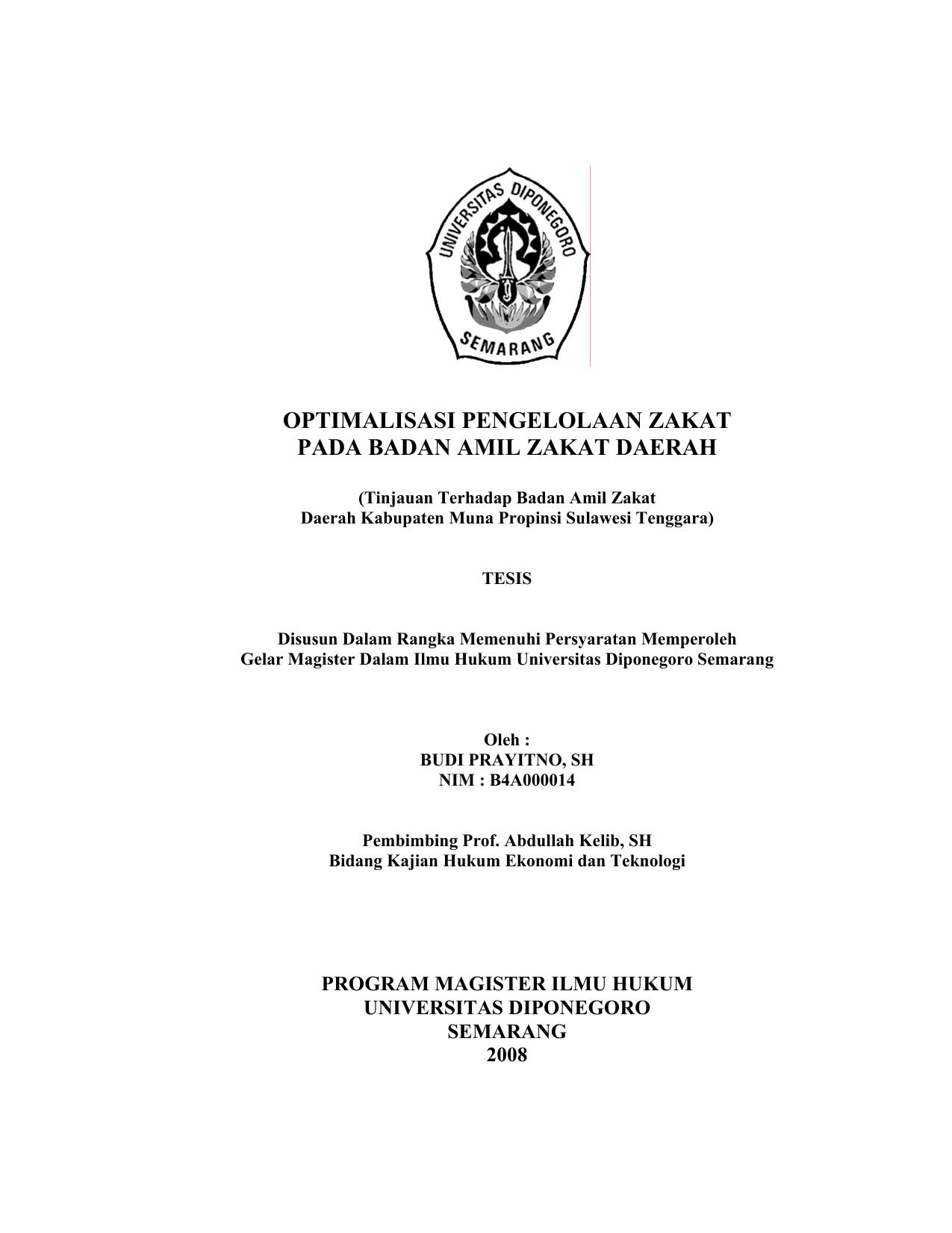 Optimalisasi Penge Aan Zakat Pada Badan Amil