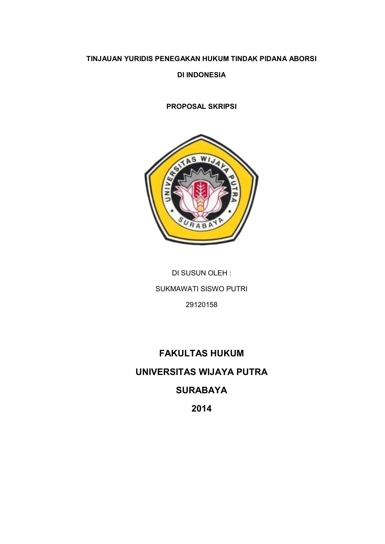 Fakultas Hukum Universitas Wijaya Putra Surabaya 2014