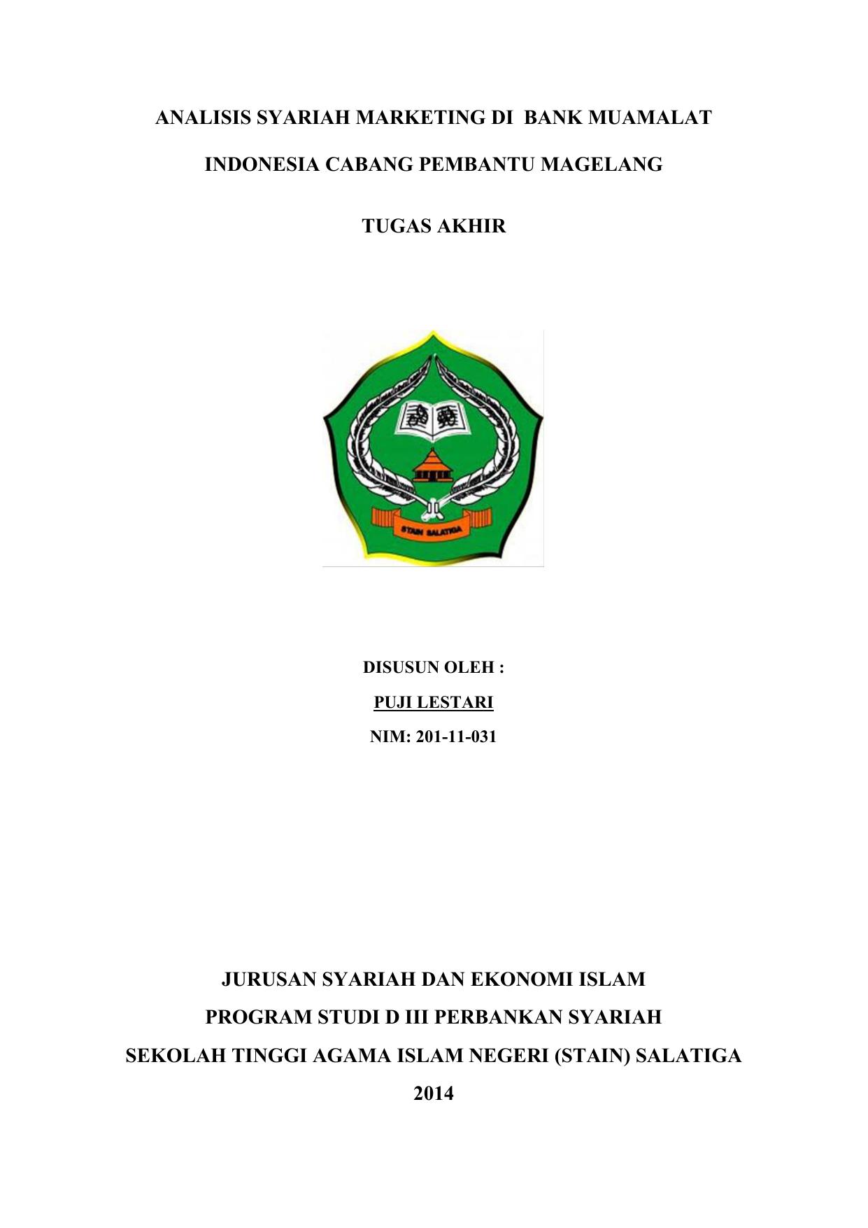 Contoh Laporan Prakerin Jurusan Akuntansi Di Bank Syariah Kumpulan Contoh Laporan