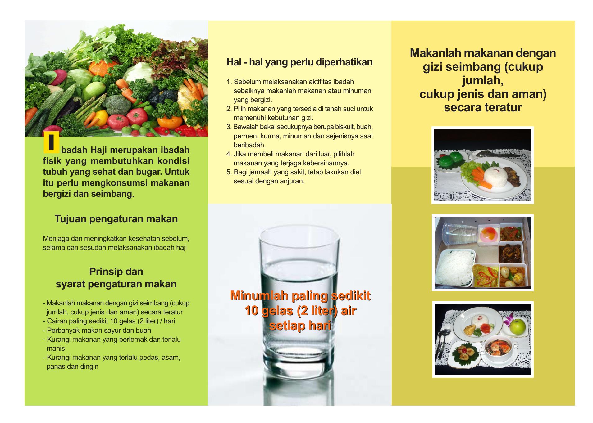 Brosur Tips Dan Makanan Sehat Haji