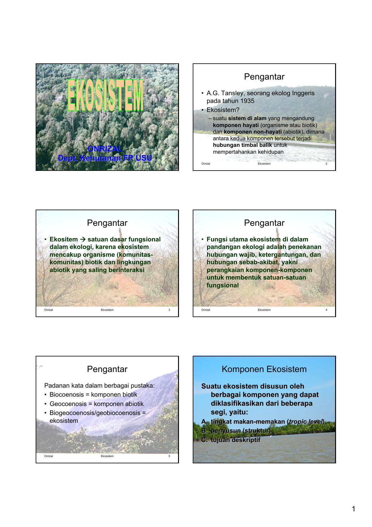 2 Ekologi Hutan Ekosistem