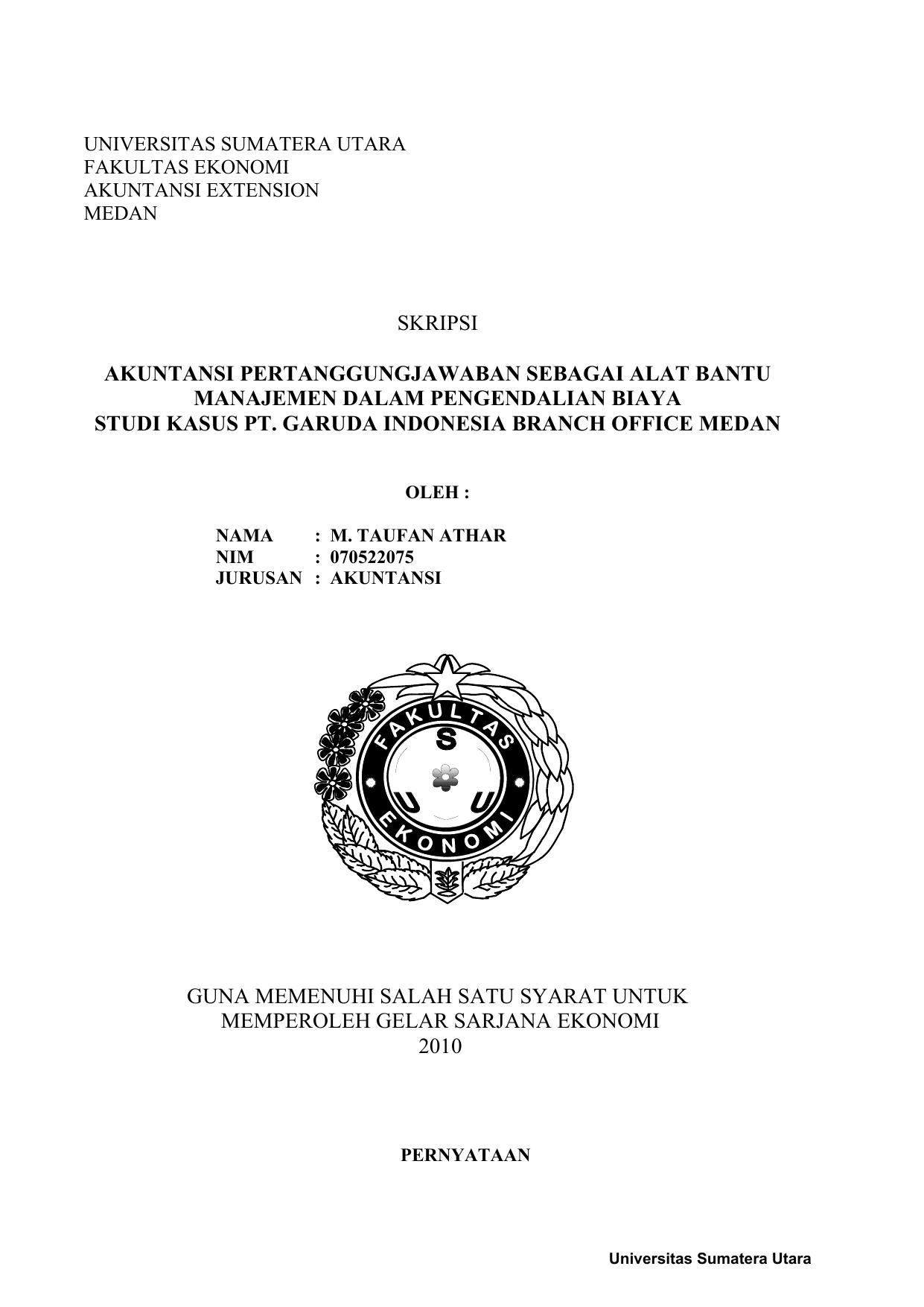 Skripsi Akuntansi Pertanggungjawaban Sebagai Alat
