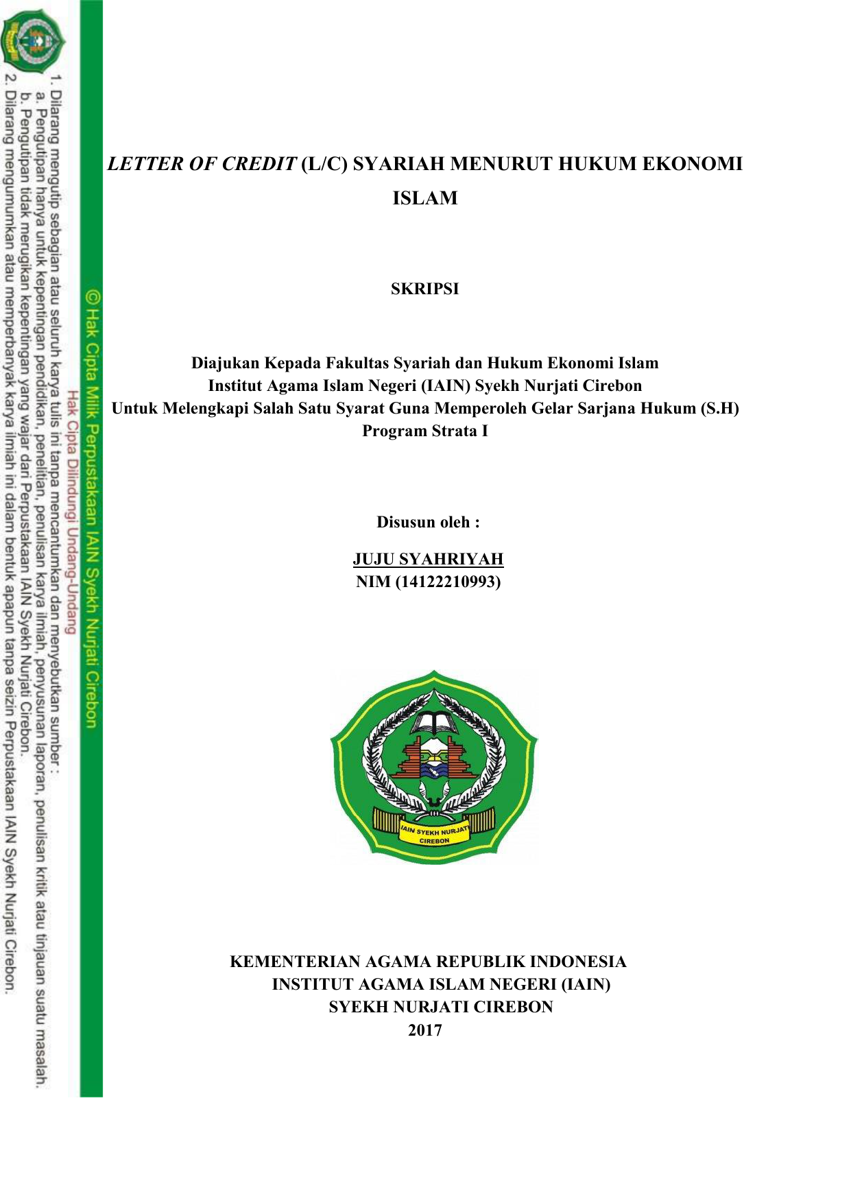 Skripsi Ekonomi Islam Kualitatif