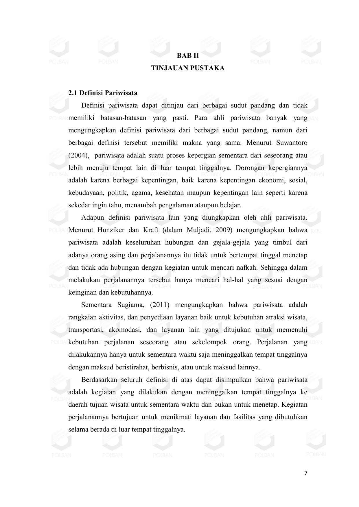 BAB II TINJAUAN PUSTAKA 7.7 Definisi