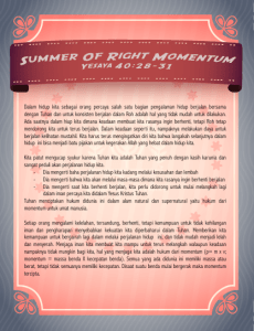 Summer of Right Momentum