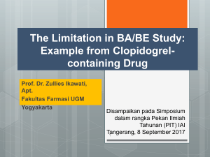 The Limitation in BA/BE Study
