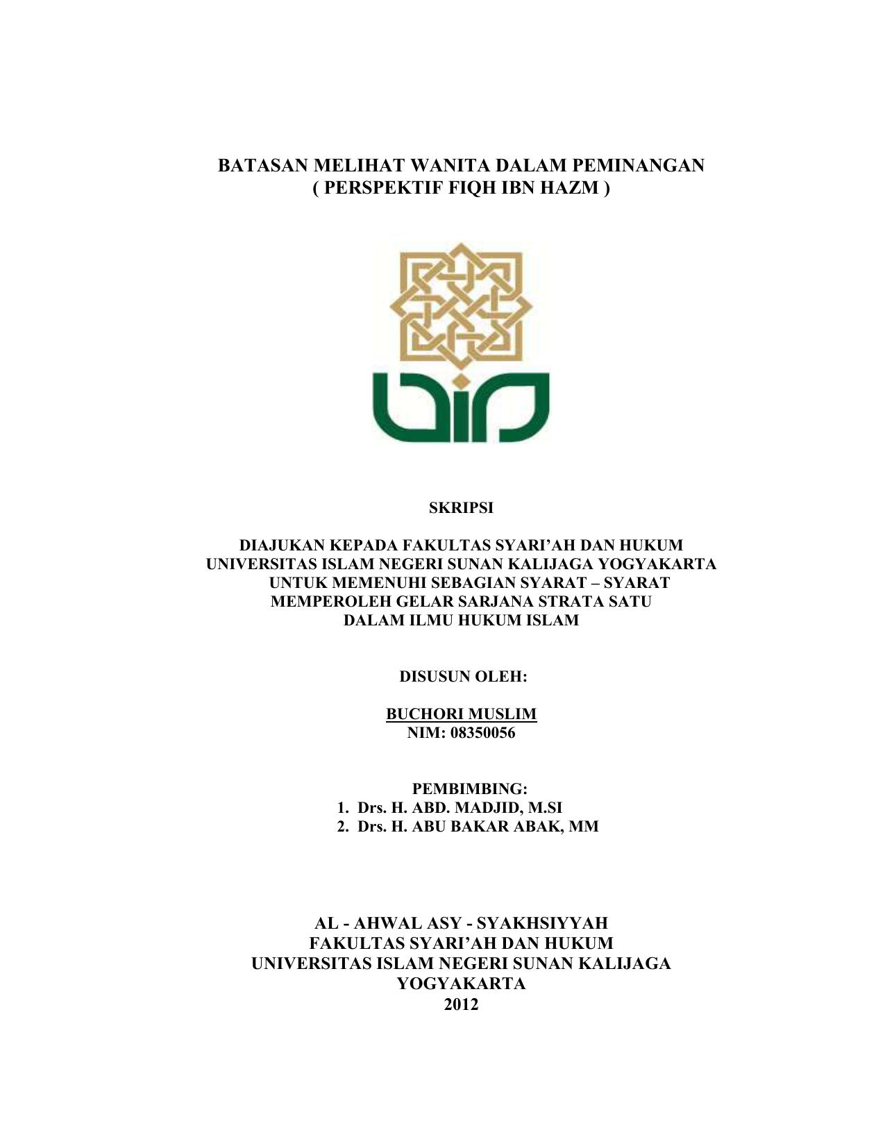 Skripsi Buchori Muslim Digital Library Uin Sunan Kalijaga