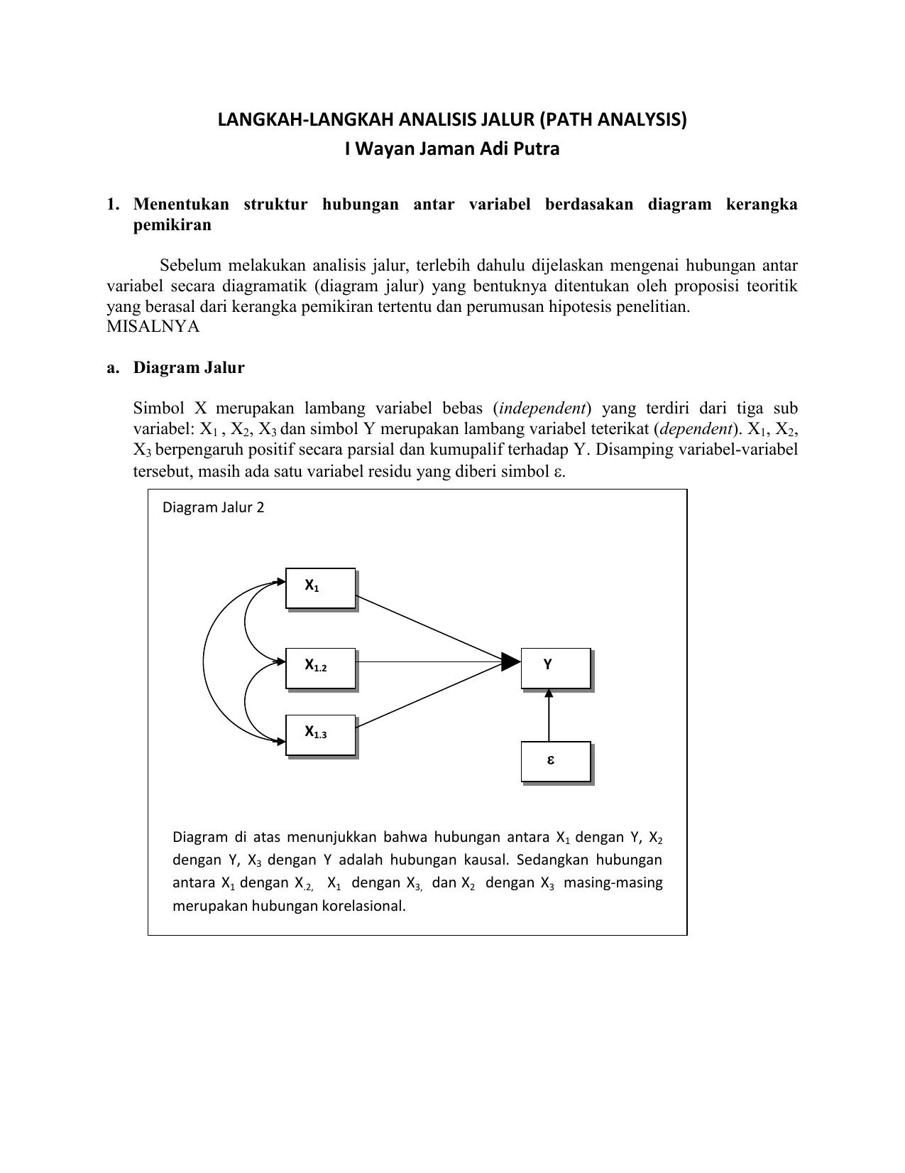 Langkah langkah analisis jalur path analysis i wayan ccuart Choice Image