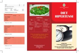 Jenis Makanan Diet Alami Hipertensi