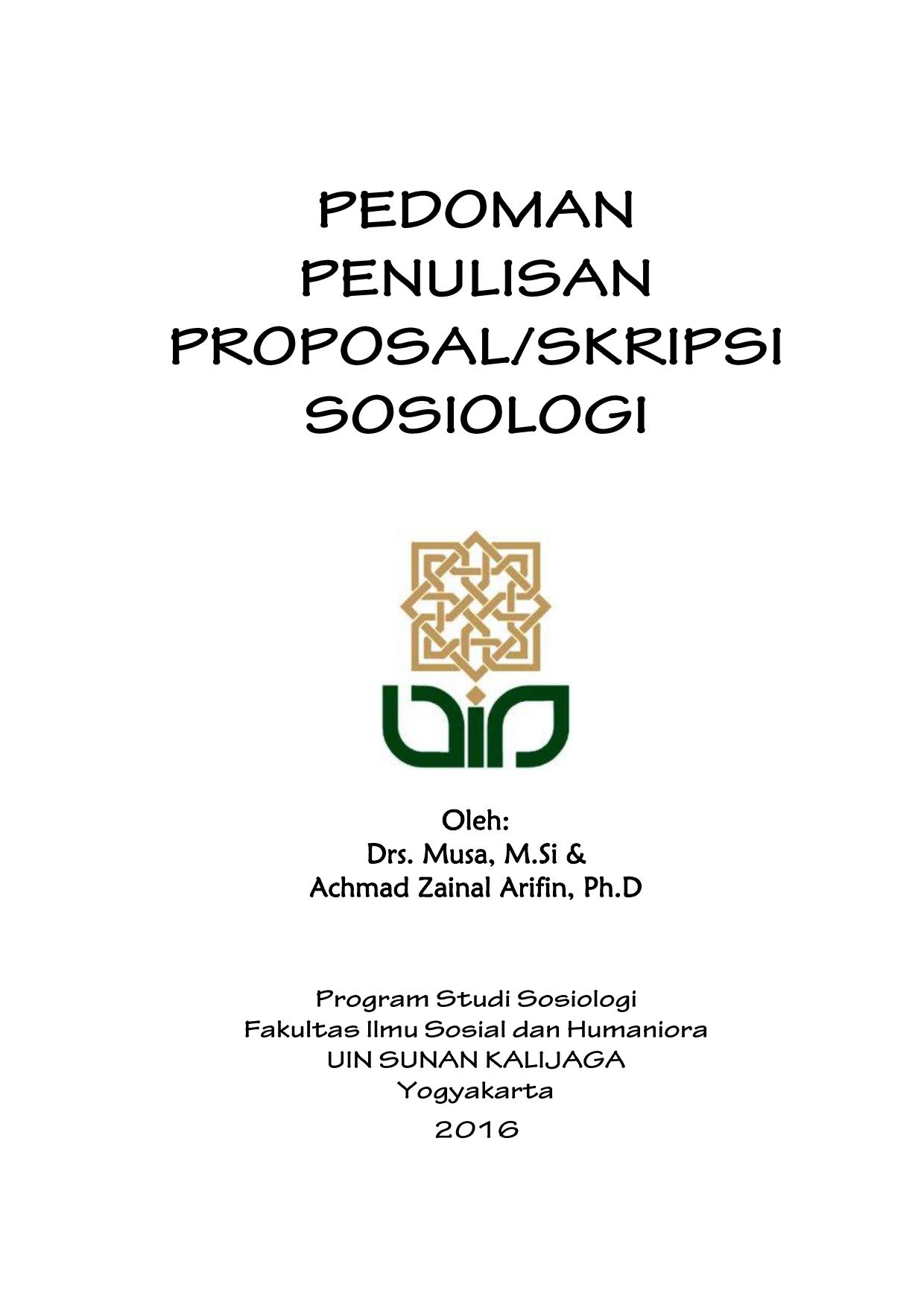 Menulis Paper Sosiologi Sosiologi Uin Sunan Kalijaga