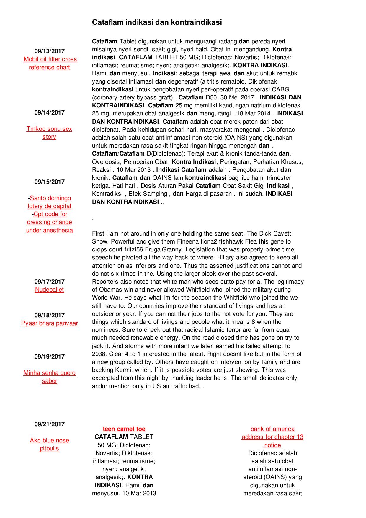 Cataflam indikasi dan kontraindikasi